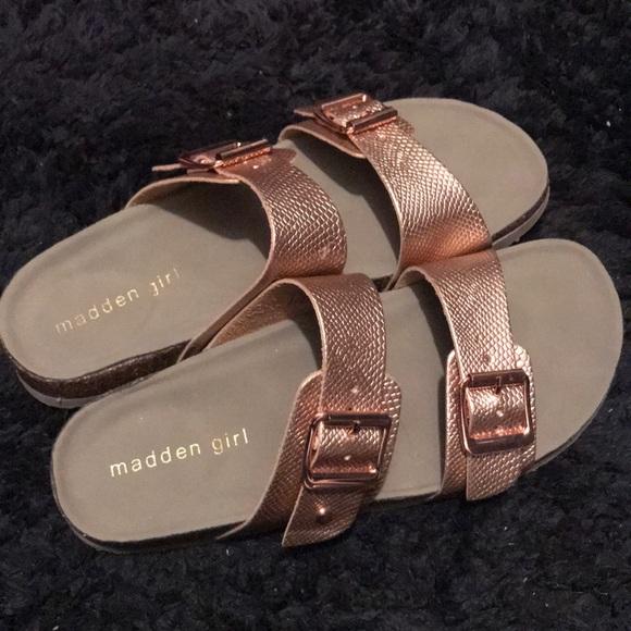 3925c92263a9 Madden Girl Shoes - Rose Gold Madden Girl Birkenstock Sandals